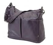 OiOi Hobo Diaper Bag 2 pocket Leather - Sugar Plum