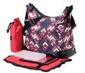 OiOi Hobo Diaper Bag - Rose Chevron