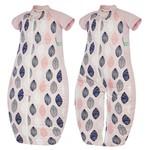 ergoPouch® Sleepsuit Bag 1.0 TOG - Pink Leaf 2-12m