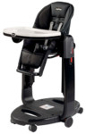 Peg Perego Jídelní židlička TATAMIA 2016 - LICORICE - Black Eco Leatehr (black chassis)