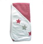 ISI Mini 80x80 cm Ručník s kapucí s hvězdami - Pink white