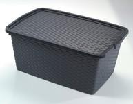 Heidrun Box s víkem 40L RATTAN