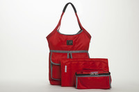 7 A.M. Voyage Diaper Bag Barcelona - Red