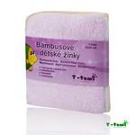 T-Tomi bambusové žíňky v provedení ubrousek 4ks - růžová
