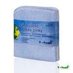 T-Tomi bambusové žíňky v provedení ubrousek 4ks - modrá