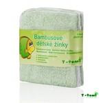 T-Tomi bambusové žíňky v provedení ubrousek 4ks - zelená