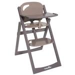 Babymoov Light Wood dřevěná jídelní židlička - wood taupe