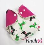 Papilios kapsové plenkové kalhotky jednovelikostní - Růžový koník Patentky