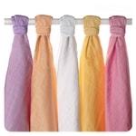 Kikko Dětské pleny z biobavlny 70x70cm Staré časy - Pastels - pro holky