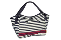 Casual Twin Bag Striped zigzag navy