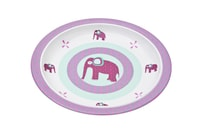 Plate with Silicone Wildlife elephant