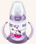 NUK FC lahvička na učení PP HELLO KITTY 150ml,SI pítko - fialová