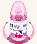 NUK FC lahvička na učení PP HELLO KITTY 150ml,SI pítko - růžová