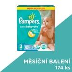 Pampers jednorázové pleny Active Baby-Dry 3 Midi, 174 ks, měsíční balení