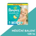 Pampers jednorázové pleny Active Baby-Dry 5 Junior, 126 ks, měsíční balení