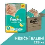 Pampers jednorázové pleny New Baby-Dry 2 Mini, 3x76 ks, měsíční balení