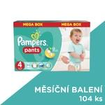 Pampers kalhotkové pleny Pants 4 Maxi, 104 ks, měsíční balení