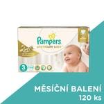 Pampers jednorázové pleny Premium Care 3 Midi, 120 ks, měsíční balení