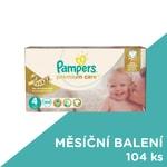 Pampers jednorázové pleny Premium Care 4 Maxi, 104 ks, měsíční balení