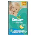 Pampers jednorázové pleny Active Baby-Dry 5 Junior, 64 ks