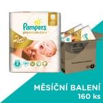 Pampers jednorázové pleny Premium Care 2 Mini, 160 ks, měsíční balení