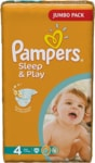 Pampers jednorázové pleny Sleep & Play Jumbo Pack - 4 Maxi, 68 ks