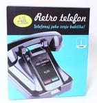 ALBI Černý retro telefon na mobil