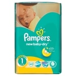 Pampers jednorázové pleny New Baby - Dry 1 Newborn, 43ks