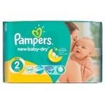 Pampers jednorázové pleny New Baby - Dry 2 Mini, 43ks