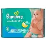 Pampers jednorázové pleny Active Baby - Dry 3 Midi, 42ks