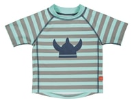 Lässig Rashguard Short Sleeve Boys striped aqua M
