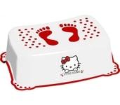 Maltex Baby stupínek Hello Kitty s protiskluzovou úpravou White