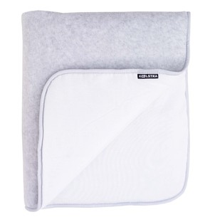 Koelstra deka fleece white/grey 83x70cm