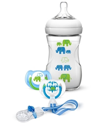 Philips Avent Sada Natural 260 ml (PP) Slon chlapec