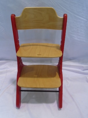 Bazar Duux Dapper High Chair - Rostoucí židle 0+ (Natural/Red)